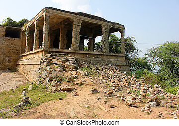 Traditional Hindu stone temple