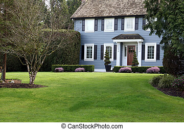 Traditional home - Beautiful traditional home on a large ...