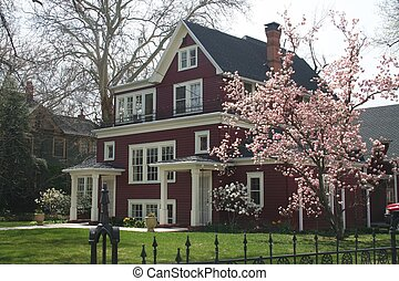Traditional Home in Spring - A nice older home in springtime...
