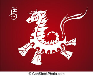 Traditional horse symbol Chinese New Year 2014