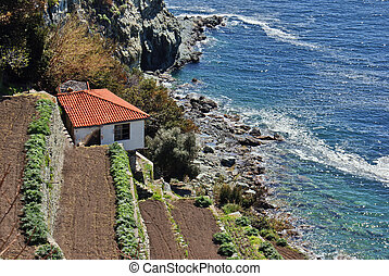 Traditional house at the beach, Greece