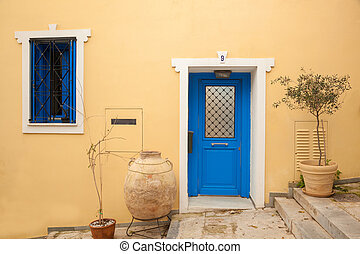 Traditional house in Plaka, Athens, Greece - Traditional old...