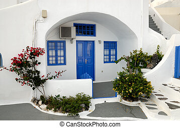 Traditional house in Santorini, Greece