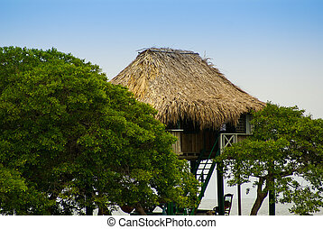 traditional house in the island Mucura ,Colombia