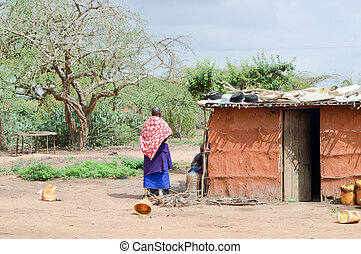 Traditional house of masai