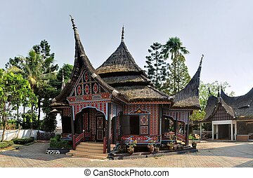Traditional house on West Sumatra, Indonesia - A heritage...