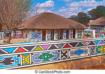 Traditional house - Traditional Sepedi house