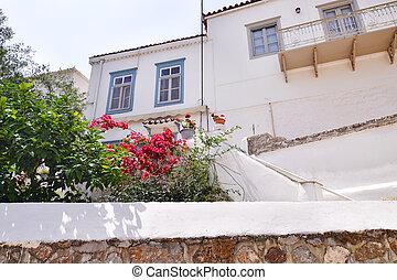 traditional houses at Hydra island Saronic gulf Greece - greek summer destination