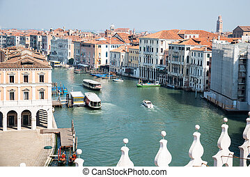 Traditional Houses At Venice Grand Canal