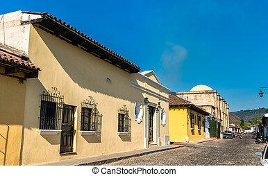 Traditional houses in Antigua Guatemala