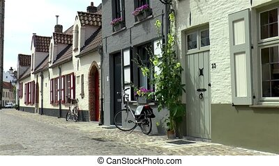 Traditional houses in Bruges, Belgium.