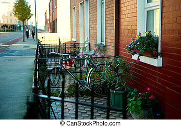 Traditional houses in Dublun. Ireland