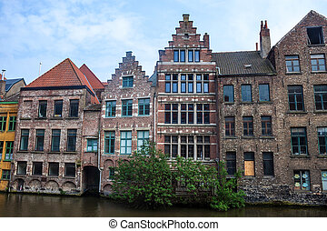 Traditional houses in Ghent, Belgium