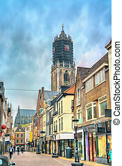 Traditional houses in Utrecht, Netherlands - Traditional...
