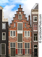 Amsterdam - Traditional houses of the Amsterdam, Netherlands