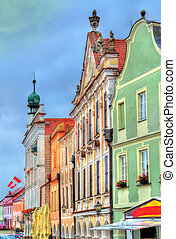Traditional houses on the main square of Telc, Czech Republic
