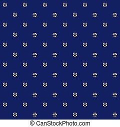 Traditional Hungarian blue-dying seamless pattern