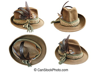 traditional hunting hat details