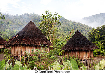 Traditional Hut - A traditional hut in an Indonesian...