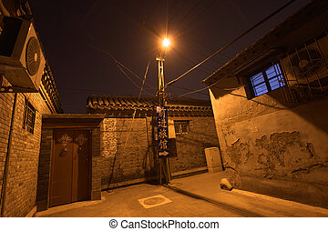 traditional hutong area beijing china