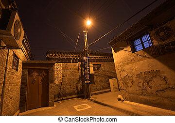 traditional hutong area beijing china
