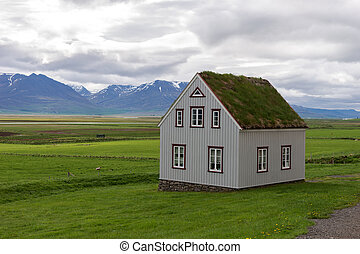 Traditional icelandic Cottage House in Iceland