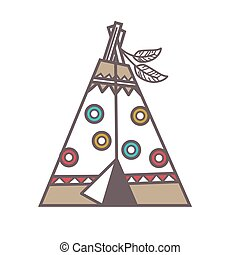 Traditional Indian lodge - Vector illustration of...