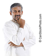 Traditional Indian man - Confident mature traditional Indian...