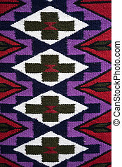 traditional indigenous textile in Ecuador - colourful...