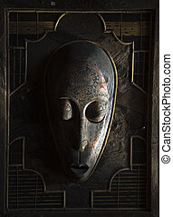 Indonesian mask - Traditional Indonesian mask in an antique ...