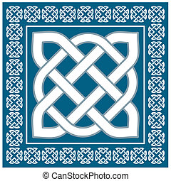 Traditional irish celtic knot motif,vector illustration
