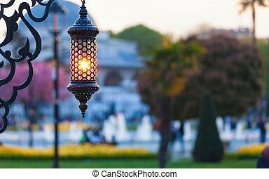 Traditional islamic ramadan lantern