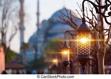 Traditional islamic ramadan lantern, Istanbul, Turkey