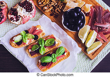 Traditional italian antipasto