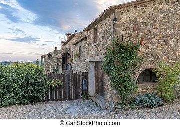 Traditional Italian old house in Tuscany, Italy.