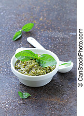 Traditional Italian pesto sauce