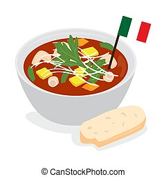 Traditional italian soup