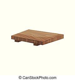 Traditional Japan bamboo tray, tea ceremony equipment cartoon vector Illustration