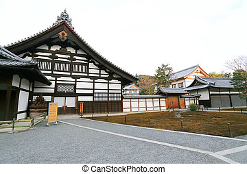Traditional Japan temple - buildings of Kinkakuji Temple in ...