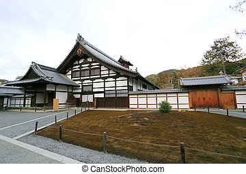 Traditional Japan temple - buildings of Kinkakuji Temple in...