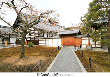 Traditional Japan temple - buildings of Kinkakuji Temple in...