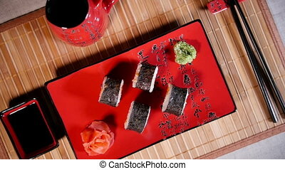 Traditional Japanese Food Sushi - Traditional japanese food...