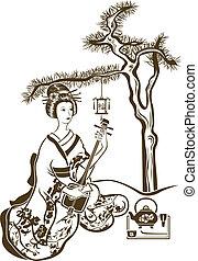 Traditional Japanese Geisha