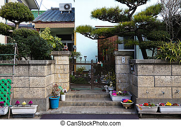 japan - Traditional Japanese house entrance in japan.