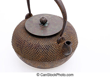 Traditional Japanese iron teapot - Kettle of japanese style...