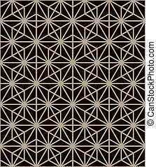 Traditional japanese pattern. Geometric background, vector illustration