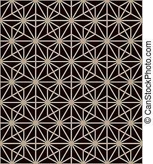 Traditional japanese pattern. Geometric background, vector illustration