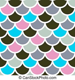 mermaid scales - Traditional Japanese seamless pattern...