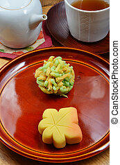 Traditional Japanese sweet confectionery - Japanese...