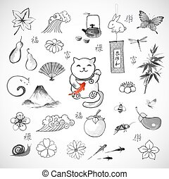 Traditional Japanese symbols of luck